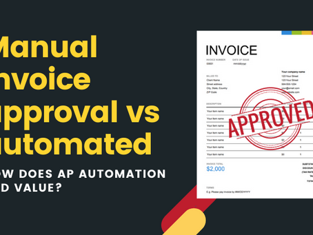 Manual invoice approval vs automated: how does AP automation add value?