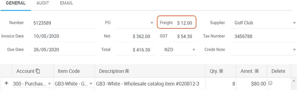 Ocerra freight cost invoice data capture