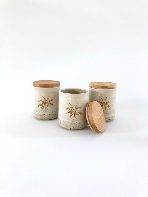 Palm Ceramic Canister