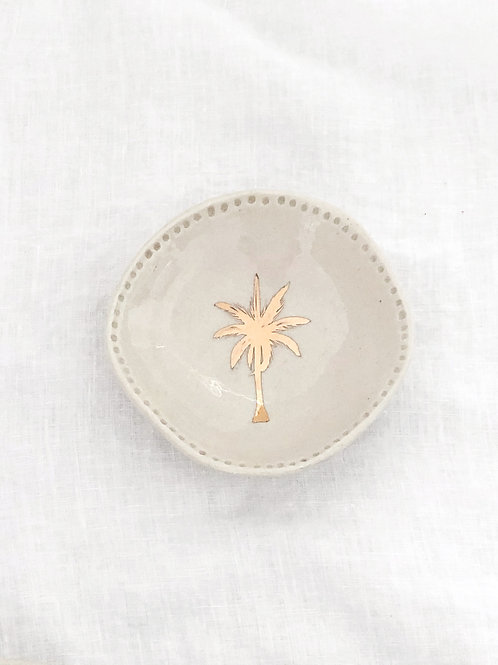 Trinket dish with Gold Lustre palm