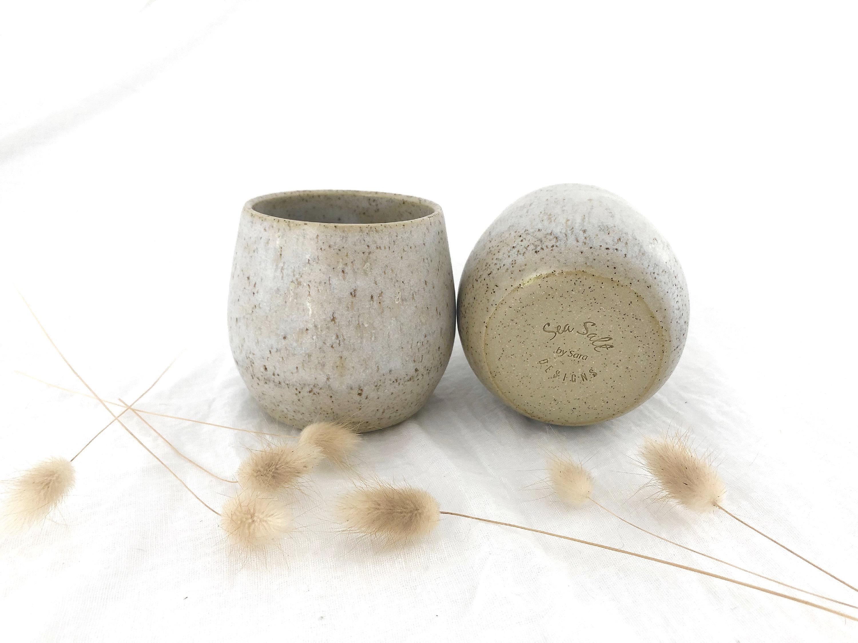 White husk cup set