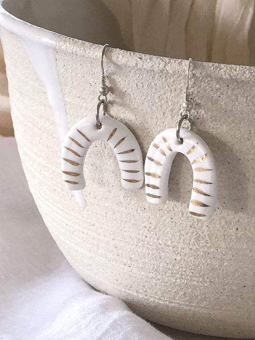 Porcelain earrings.