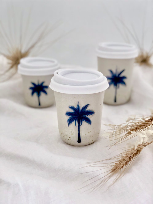 Marine Blue Palm - Travel Mug