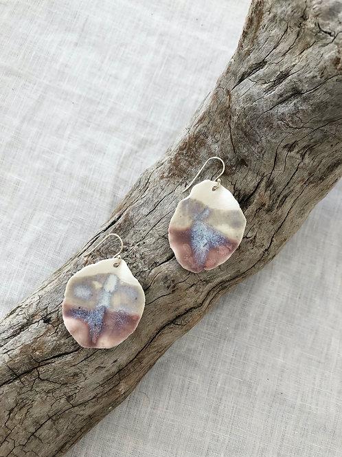 Porcelain -Petal earrings