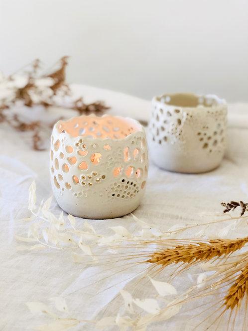 Satin White -Tea Light holder