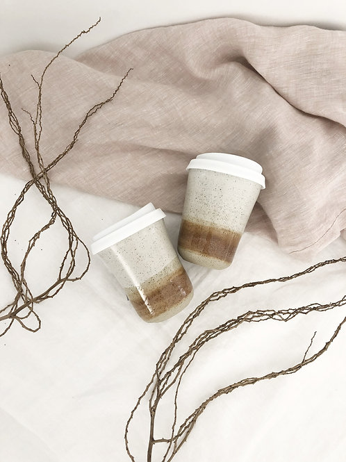 10oz Nude Sand Travel Mug