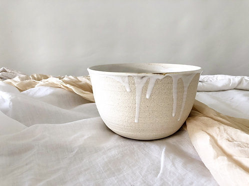 White Raku bowl
