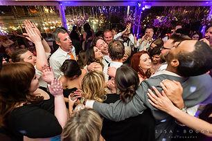 Dance floor at a wedding reception