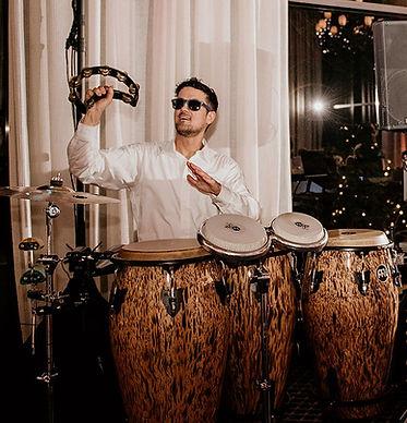 Live percussion at a wedding reception