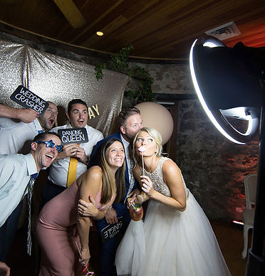 Photo booth at a wedding