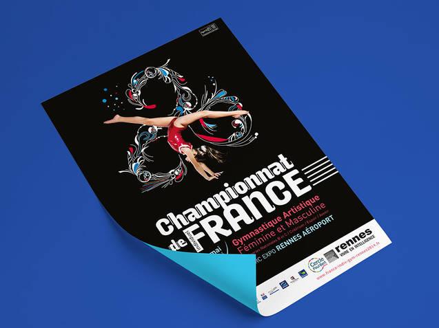 Affiche Championnat de France de Gymnastique Artistique