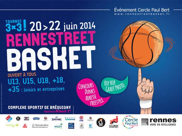 Affiche Rennes Street Basket