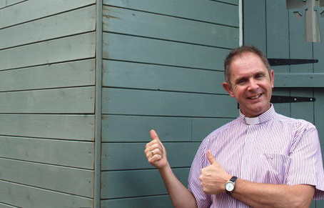 Minister finds solace in shepherd's hut