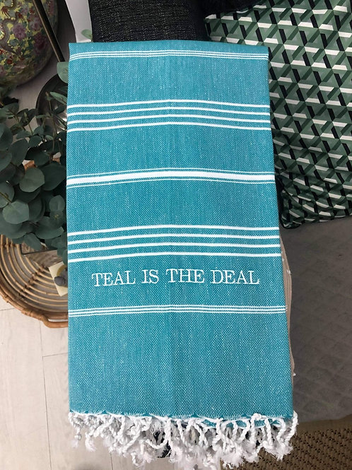 Teal is the Deal - TurkishTowel