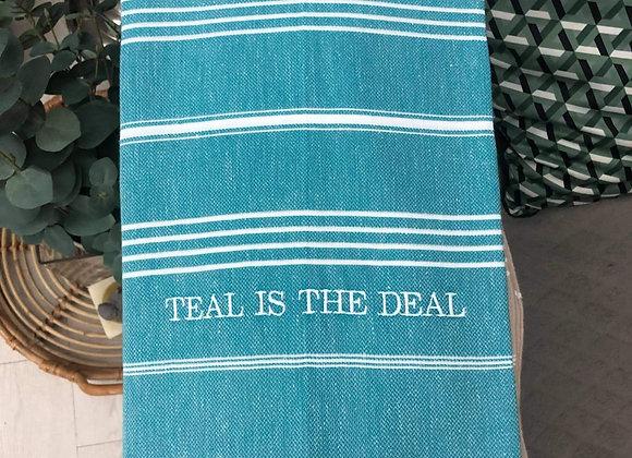 Teal is the Deal - TurkishTowel