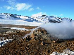 Steamvent at Hverir, Námaskarð