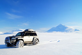 IceAk Super Jeep in a fantastic weather