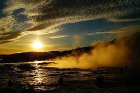 Sunset at Geysir