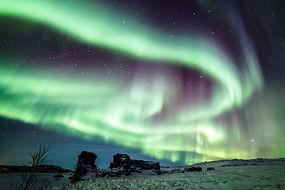 Northern light at Mývatn