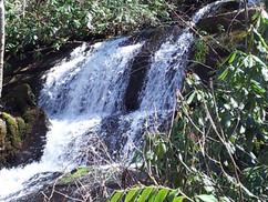 Slickrock falls adjacent USFS trail Marc
