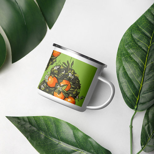 Orange BL-awesome Enamel Green Mug