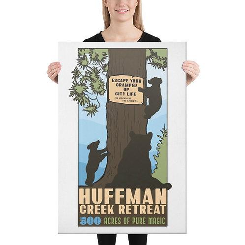 Huffman Creek Retreat Bear Poster