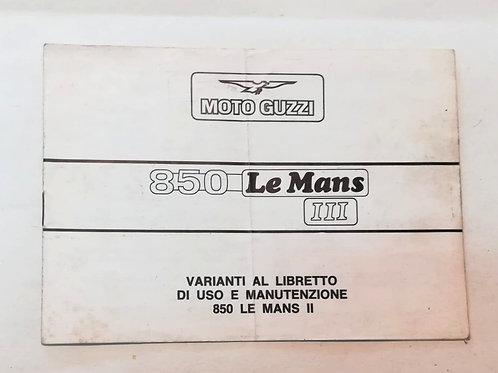 Moto Guzzi integrazione 850 LE MANS III - ITALIANO