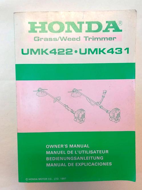 Honda DECESPUGLIATORE UMK 422 / UMK 431 - ITALIANO
