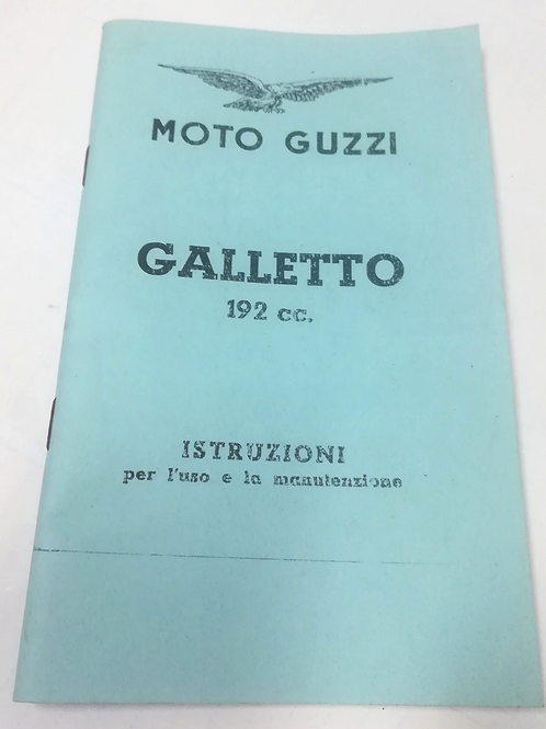 Moto Guzzi GALLETTO 192 - ITALIANO