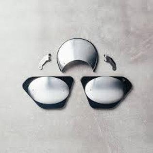 Moto Guzzi Tris tabelle in alluminio satinato