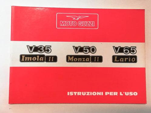 Moto Guzzi V 35 IMOLA II / V 50 MONZA II / V 65 LARIO - ITALIANO