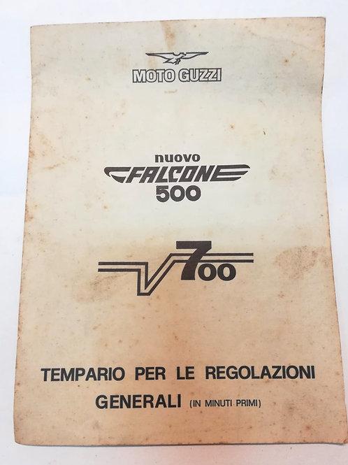 Moto Guzzi tempario V700 / NUOVO FALCONE 500 - ITALIANO