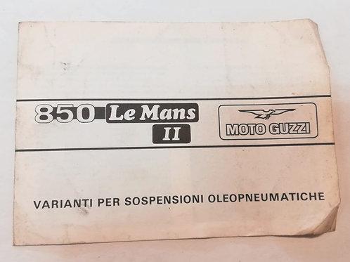 Moto Guzzi integrazione 850 LE MANS II - ITALIANO
