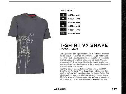 T-shirt Moto Guzzi V7 Shape - Uomo