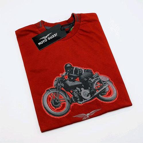 Moto Guzzi T-SHIRT UOMO GARAGE ROSSO