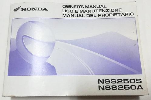 Honda NSS 250S/A -ITALIANO