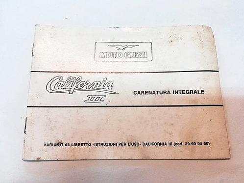 Moto Guzzi integrazione CALIFORNIA III - ITALIANO