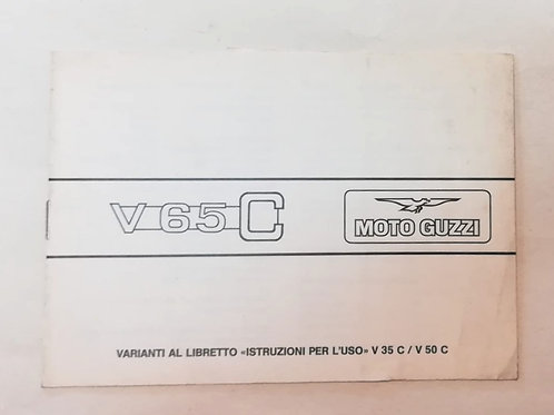 Moto Guzzi integrazione V 65 C - ITALIANO