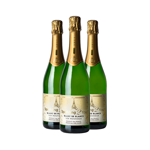 KIT 3 ESPUMANTES FRANCÊS BRUT - SPARKLING 2 YOU