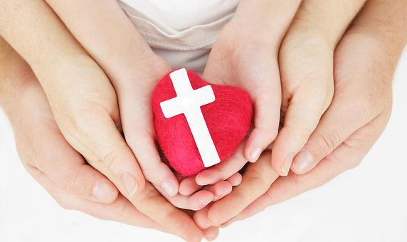 I love our faith - family hands holding
