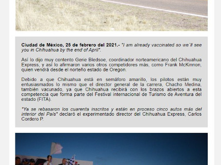 """I am already vaccinated so we´ll see you in Chihuahua by the end of April"""