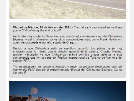 """""""I am already vaccinated so we´ll see you in Chihuahua by the end of April"""""""