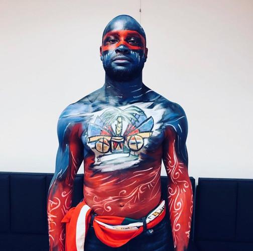 Modèle: Darley Melorize , Carifiesta 2019,Body Painting représentant Ayiti, l'Afrique, Kiskeya