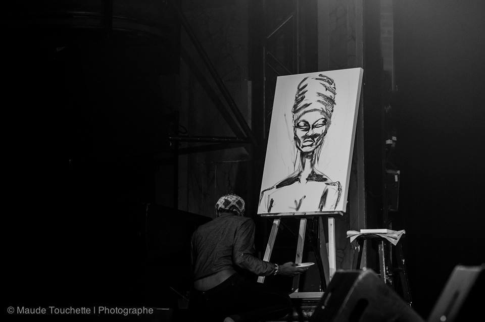 Live Painting Montreal Festival Fro