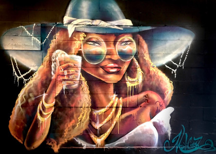 Mme West Shefford, murale située au Edgar Hyperlodge - Montréal