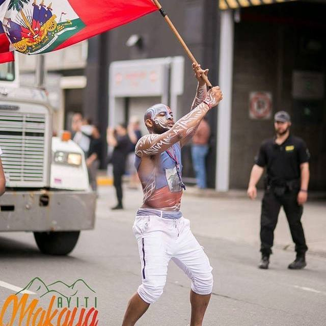 Haitian Flag BodyPainting Carifiesta