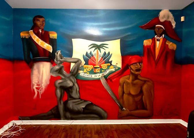 Murale Drapeau Haiti sous sol