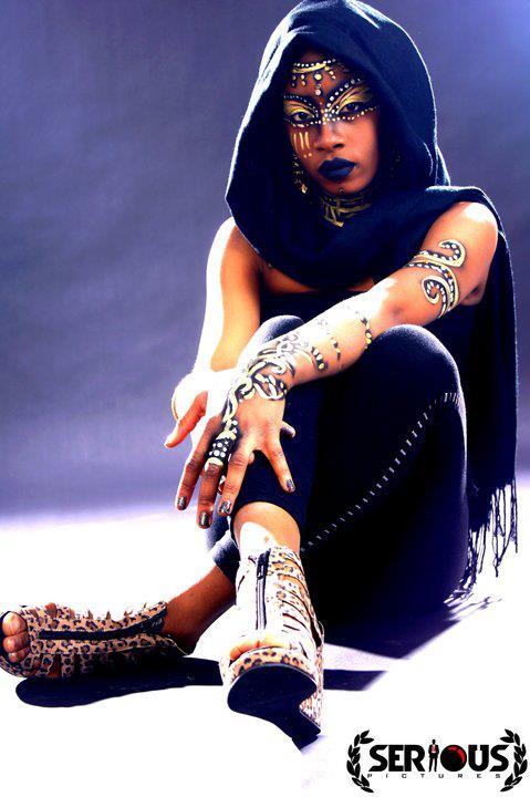 Nubian Queen Body Painting