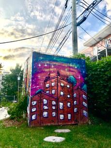 Murale située à Montréal-Nord