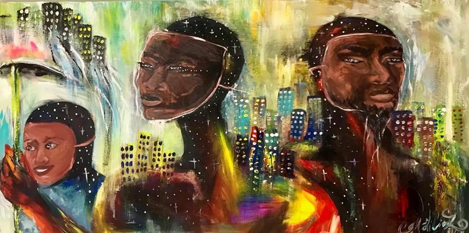 Live Painting - Collection Fondation Michaelle Jean